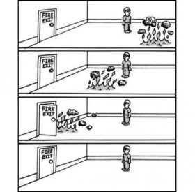 Fire exit!