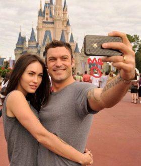 Megan Fox and me at Disneyland