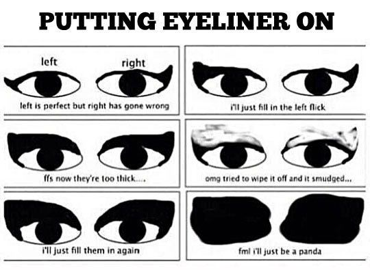 Putting-eyeliner-on