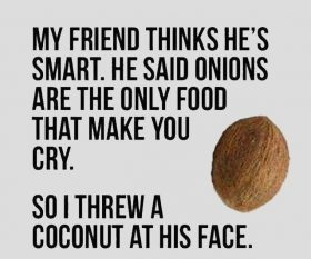 Onion, crying and coconut…