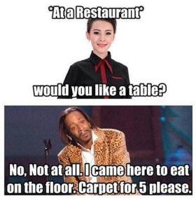 At a restaurant