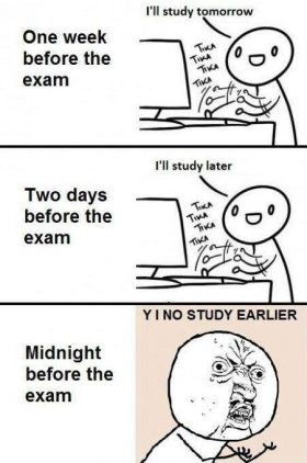 Before exam…
