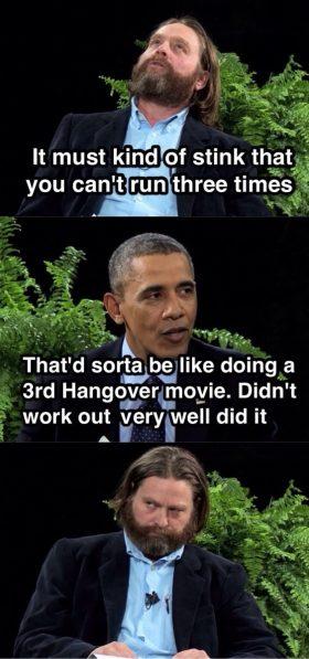 Obama Hangover 3 Zinger