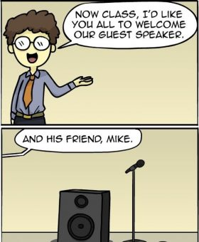 and his friend Mike.