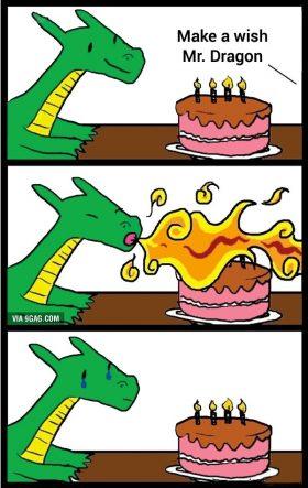 Make a wish Mr. Dragon