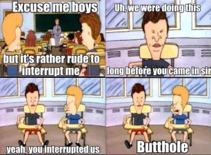 you interrupted us!