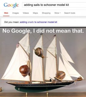 No Google, I did NOT mean that.