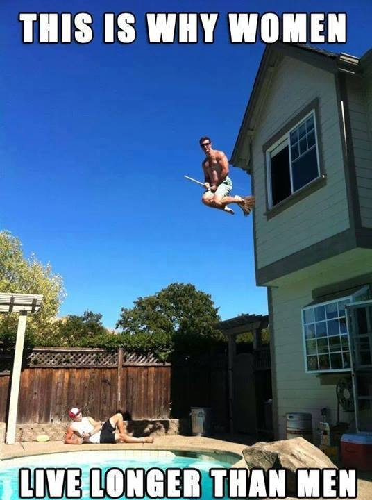 Why woman live longer…