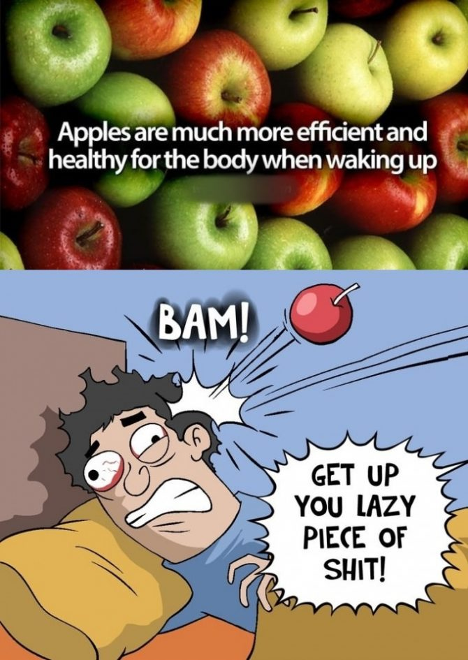 Apples are much more efficient…