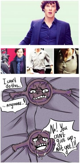 If Sherlock's shirt could talk…