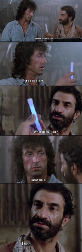 My favourite scene of Sylvester Stallone
