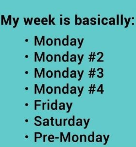And so another week begins…