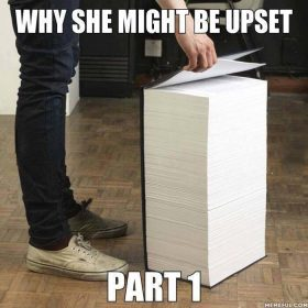 Why she might be upset?