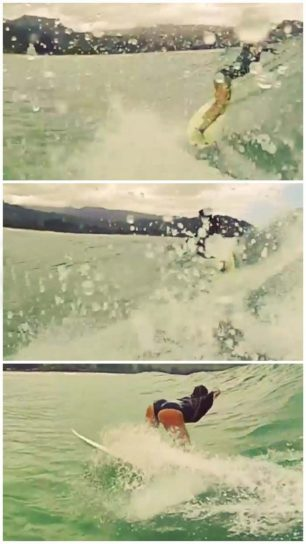 So I asked my friend to take pictures of me surfing